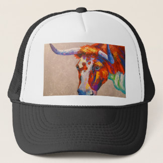 Curious bull trucker hat