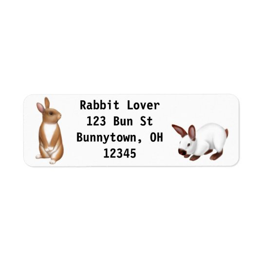 Curious Bunny Rabbit Label Return Address Label