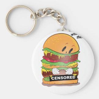 Curious Burger Basic Round Button Key Ring