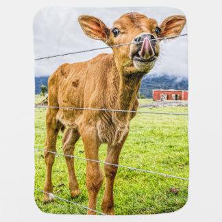 Curious Calf Baby Blanket