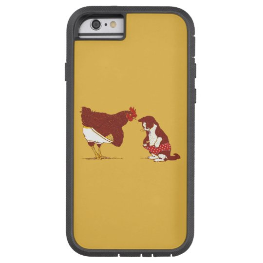 CURIOUS CAT AND CHOOK iPhone 6 Tough Case
