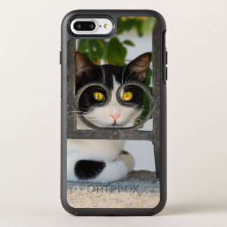 Curious Cat - Spectacles Frame Funny protect Phone OtterBox Symmetry iPhone 8 Plus/7 Plus Case