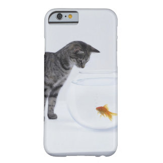 Curious cat watching goldfish in fishbowl barely there iPhone 6 case