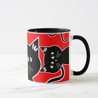 Curious Cats Keep an Eye on You! Mug