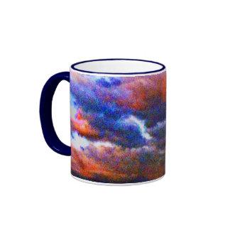 Curious Clouds Ringer Mug