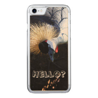 Curious Crowned Crane Answering the Phone Carved iPhone 8/7 Case