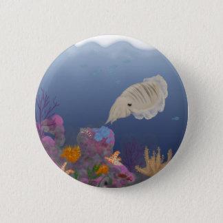 Curious Cuttlefish 6 Cm Round Badge