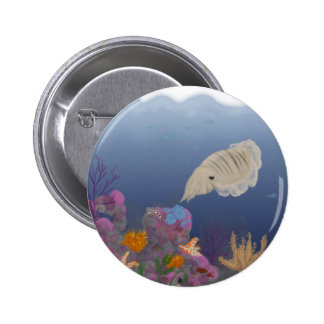 Curious Cuttlefish 6 Cm Round Badge