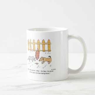 Curious Dogs Cartoon Mug