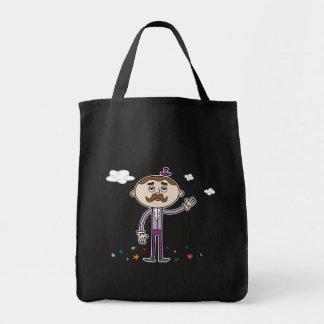 Curious Gentleman - Grocery Tote Bags