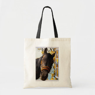 Curious Horse Looking Through The Kitchen Window Budget Tote Bag