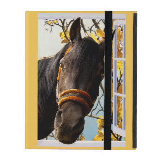 Curious Horse Looking Through The Kitchen Window iPad Cover