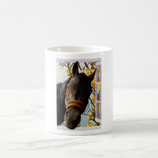 Curious Horse Looking Through The Kitchen Window Coffee Mug