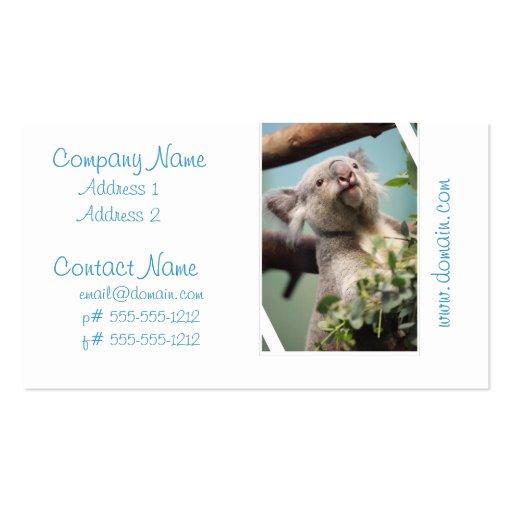 Curious Koala Bear Business Card