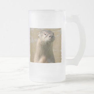 Curious Otter Frosted Beer Mug