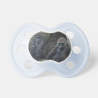 Curious Pair of Primates Pacifiers