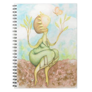 Curious Plant creature and butterfly Notebooks