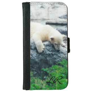 Curious Polar bear cub iPone or galaxy Wallet
