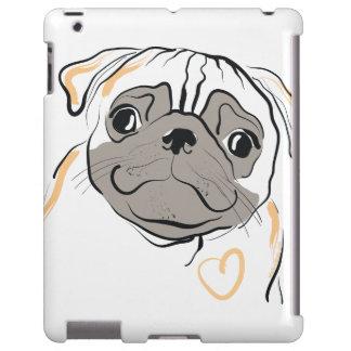 Curious Pug with Heart iPad Case