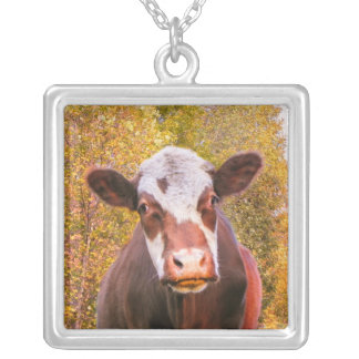 Curious Red Cow Pendant