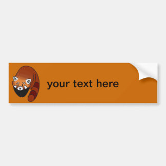 Curious Red Panda Bumper Sticker