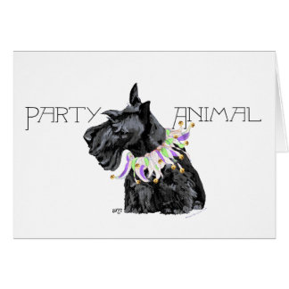 Curious Scottie Party Animal Card