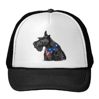 Curious Scottish Terrier Patriotic Mesh Hats