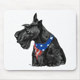 Curious Scottish Terrier Patriotic Mouse Pad