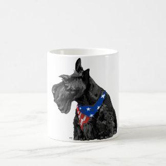 Curious Scottish Terrier Patriotic Coffee Mugs