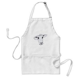 curious sheep adult apron