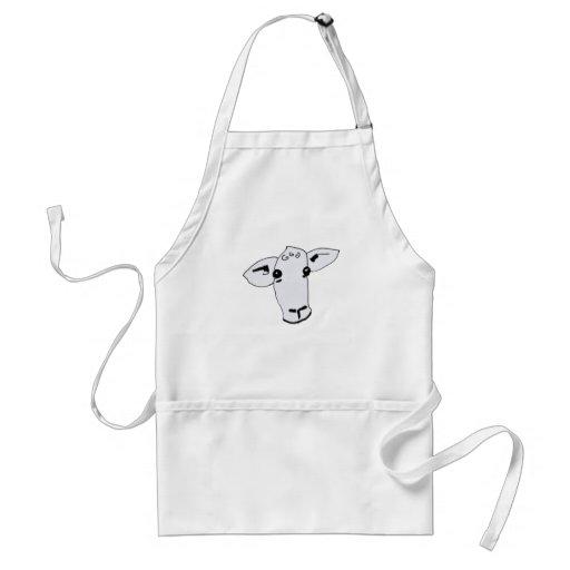 curious sheep apron