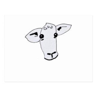 curious sheep postcard