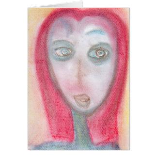 Curious Traveler, Chalk Drawing, Art Greeting Card