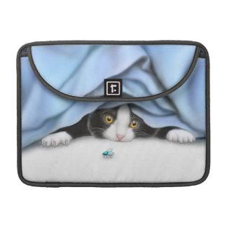 Curious Tuxedo Kitten Rickshaw Flap Sleeve Sleeve For MacBook Pro