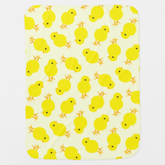 Curious Yellow Chick Baby Blanket