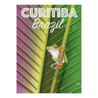 Curitiba, Brazil Travel poster