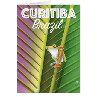 Curitiba, Brazil Travel poster Card