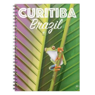 Curitiba, Brazil Travel poster Note Books