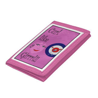 Curl like a Girrrl! Tri-fold Wallets