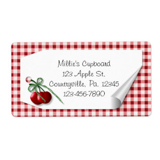 Curl Tag Cherries Label Shipping Label