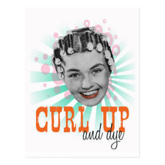 Curl Up and Dye Postcard