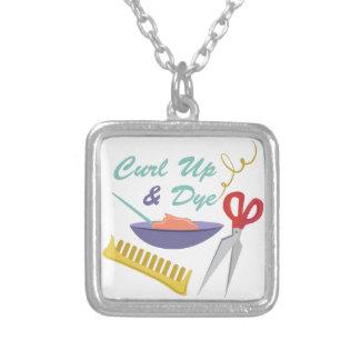 Curl Up Square Pendant Necklace