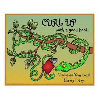 Curl Up With A Good Book Poster
