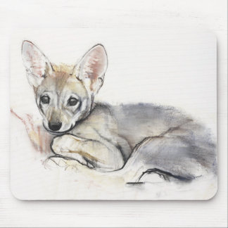 Curled Arabian Wolf Pup 2009 Mouse Mat