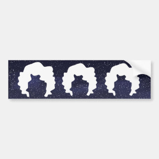 Curled Hairs Pictograph Car Bumper Sticker