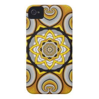 Curled hearts, fractal iPhone 4 case