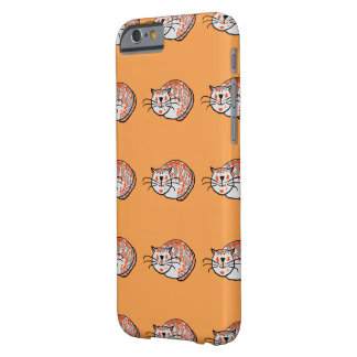 Curled up cat illustration in a pattern on phone c barely there iPhone 6 case