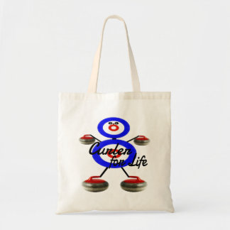 Curler for Life Curling Cartoon Budget Tote Bag