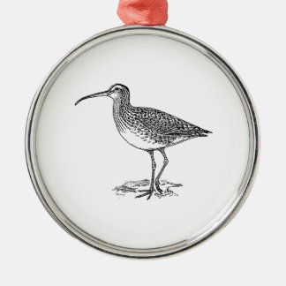 Curlew Bird Illustration Christmas Ornament