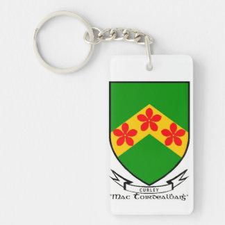 Curley surname coat of arms keychain